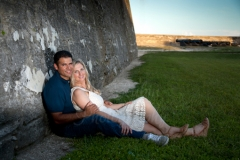couple_engagement_leaning_fort_wall